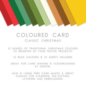 The Paper Boutique – Everyday Coloured Card – A4 Card Packs Classic Christmas