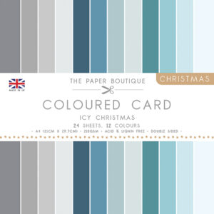 The Paper Boutique – Everyday Coloured Card – A4 Card Packs Icy Christmas