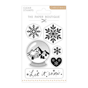The Paper Boutique A6 Christmas Stamps – Let It Snow – Set of 6