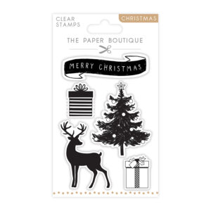 The Paper Boutique A6 Christmas Stamps – Merry Christmas – Set of 5