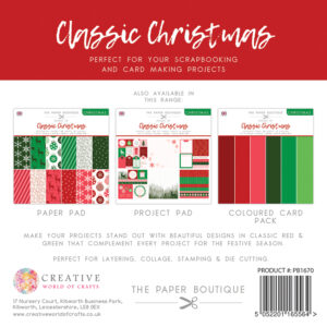 The Paper Boutique – Shades of Christmas – Classic Christmas 8″ x 8″ Paper Pad