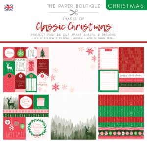 The Paper Boutique – Shades of Christmas – Classic Christmas 8″ x 8″ Project Pad