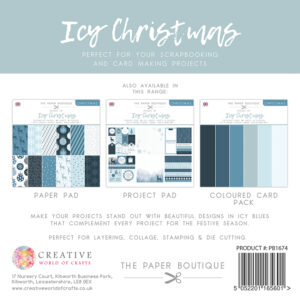 The Paper Boutique – Shades of Christmas – Icy Christmas 8″ x 8″ Project Pad