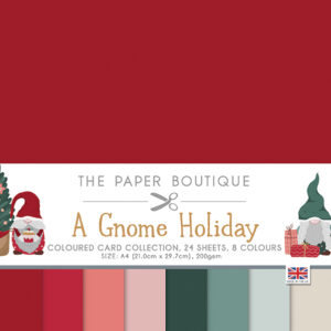 The Paper Boutique A Gnome Holiday Coloured Card Pack