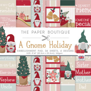 The Paper Boutique A Gnome Holiday Embellishment Pad