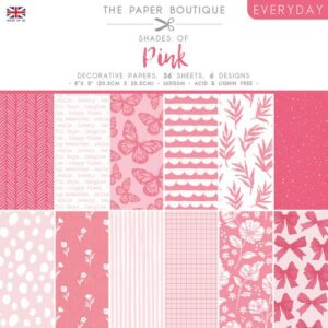 The Paper Boutique – Shades of Pink – 8″ x 8″ Paper Pad