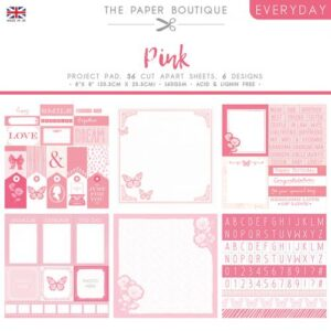 The Paper Boutique – Shades of Pink – Project Pad
