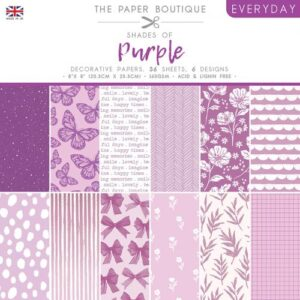 The Paper Boutique – Shades of Purple – 8″ x 8″ Paper Pad