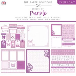 The Paper Boutique – Shades of Purple – Project Pad