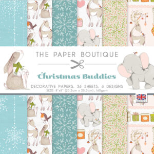 The Paper Boutique – Christmas Buddies – 8″ x 8″ Paper Pad