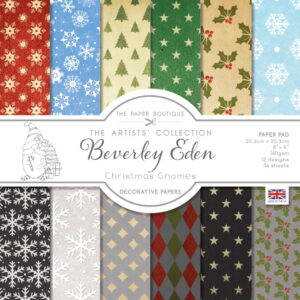 The Paper Boutique Artists' Collection – Beverley Eden – Christmas Gnomes 8 x 8 Paper Pad