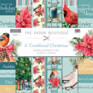 The Paper Boutique – Traditonal Christmas – Embellishment Papers PDF Download