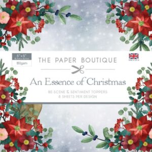 The Paper Boutique – An Essence of Christmas – 5 x 5 Scene & Sentiment Toppers PDF Download