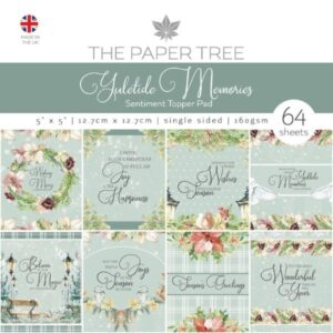 The Paper Boutique – Yuletide Memories – 5 x 5 Scene & Sentiment Toppers PDF Download
