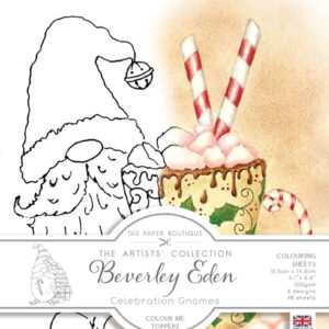 The Paper Boutique Artists' Collection – Beverley Eden – Christmas Gnomes Colour Me Toppers