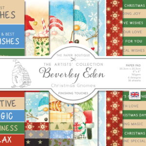 The Paper Boutique Artists' Collection – Beverley Eden – Christmas Gnomes Finishing Touches Pad