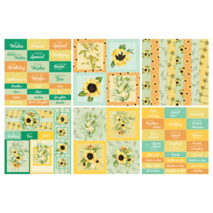 The Paper Boutique Perfect Partners Sassy Sunflowers – Perfect Embellishments