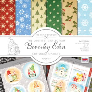 The Paper Boutique Artists' Collection – Beverley Eden – Christmas Gnomes Paper Kit