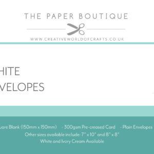 Cards & Envelopes – White 300gsm – 6 x 6″ – Pack of 30