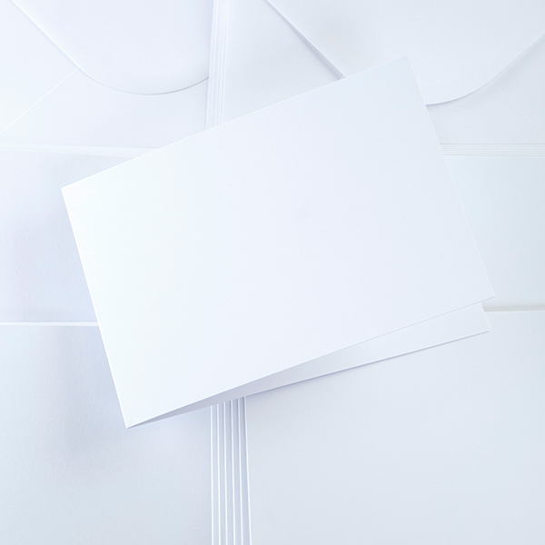Landscape Cards & Envelopes – White 300gsm – A5 – Pack of 25
