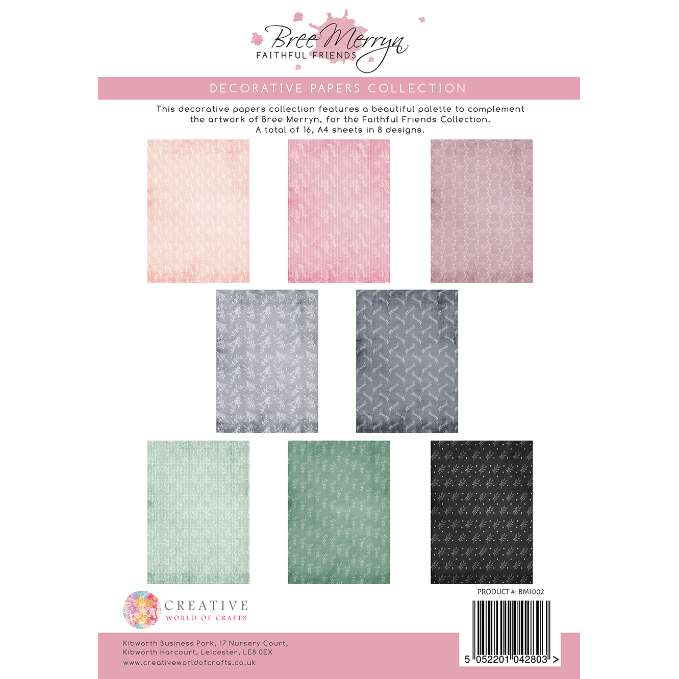 Bree Merryn Faithful Friends A4 Decorative Papers