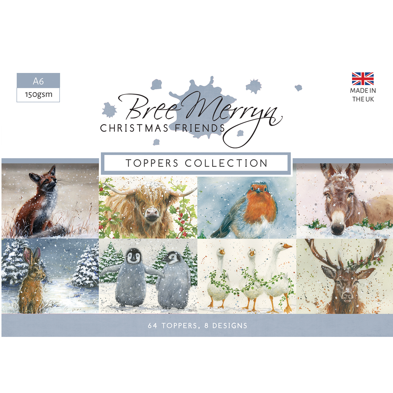 Bree Merryn Christmas Friends A6 Topper Collection