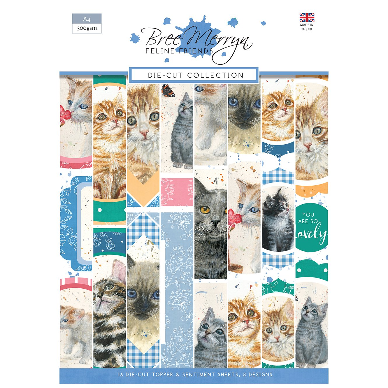 Bree Merryn Feline Friends A4 Die-Cut Toppers and Sentiments