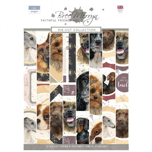 Bree Merryn Faithful Friends Vol. 2 A4 Die-Cut Toppers and Sentiments