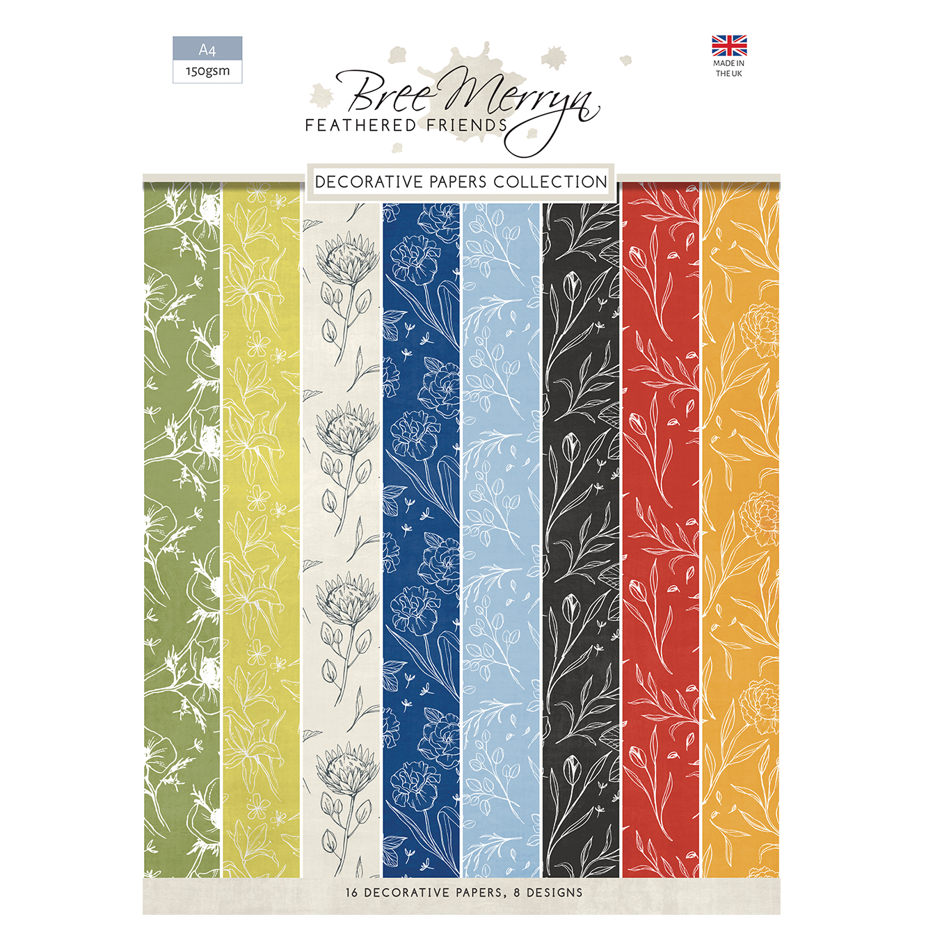 Bree Merryn Feathered Friends A4 Decorative Papers