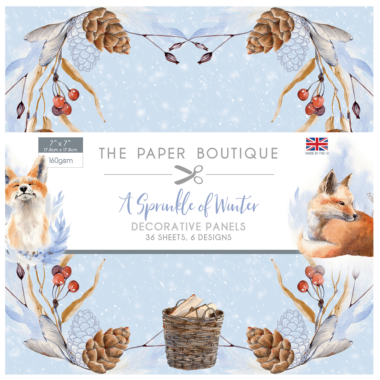 The Paper Boutique A Sprinkle of Winter 7″ x 7″ Panel Pad