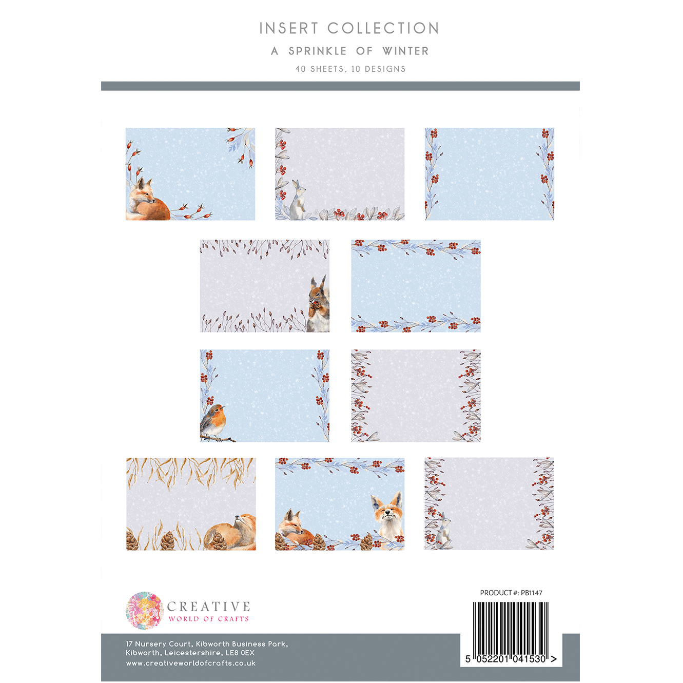 The Paper Boutique A Sprinkle of Winter Insert Collection