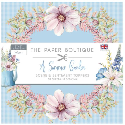 The Paper Boutique A Summer Garden 5″ x 5″ Scene and Sentiment Pad
