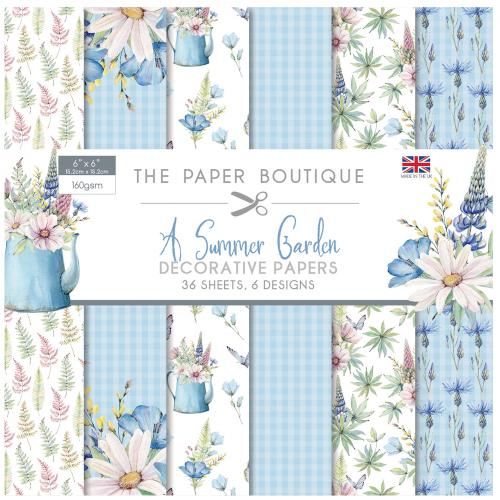 The Paper Boutique A Summer Garden 6″ x 6″ Paper Pad