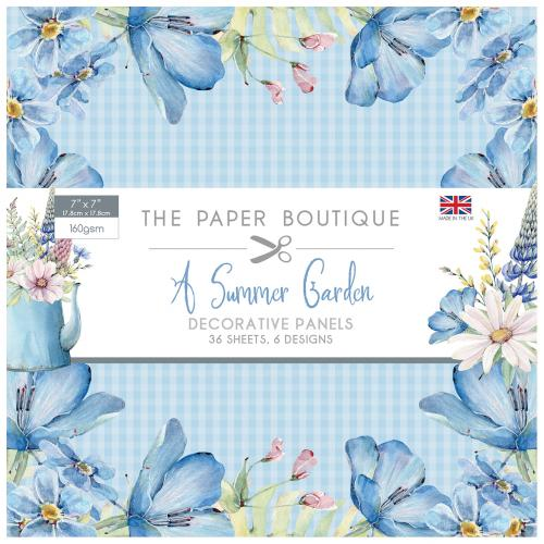 The Paper Boutique A Summer Garden 7″ x 7″ Decorative Panel Pad