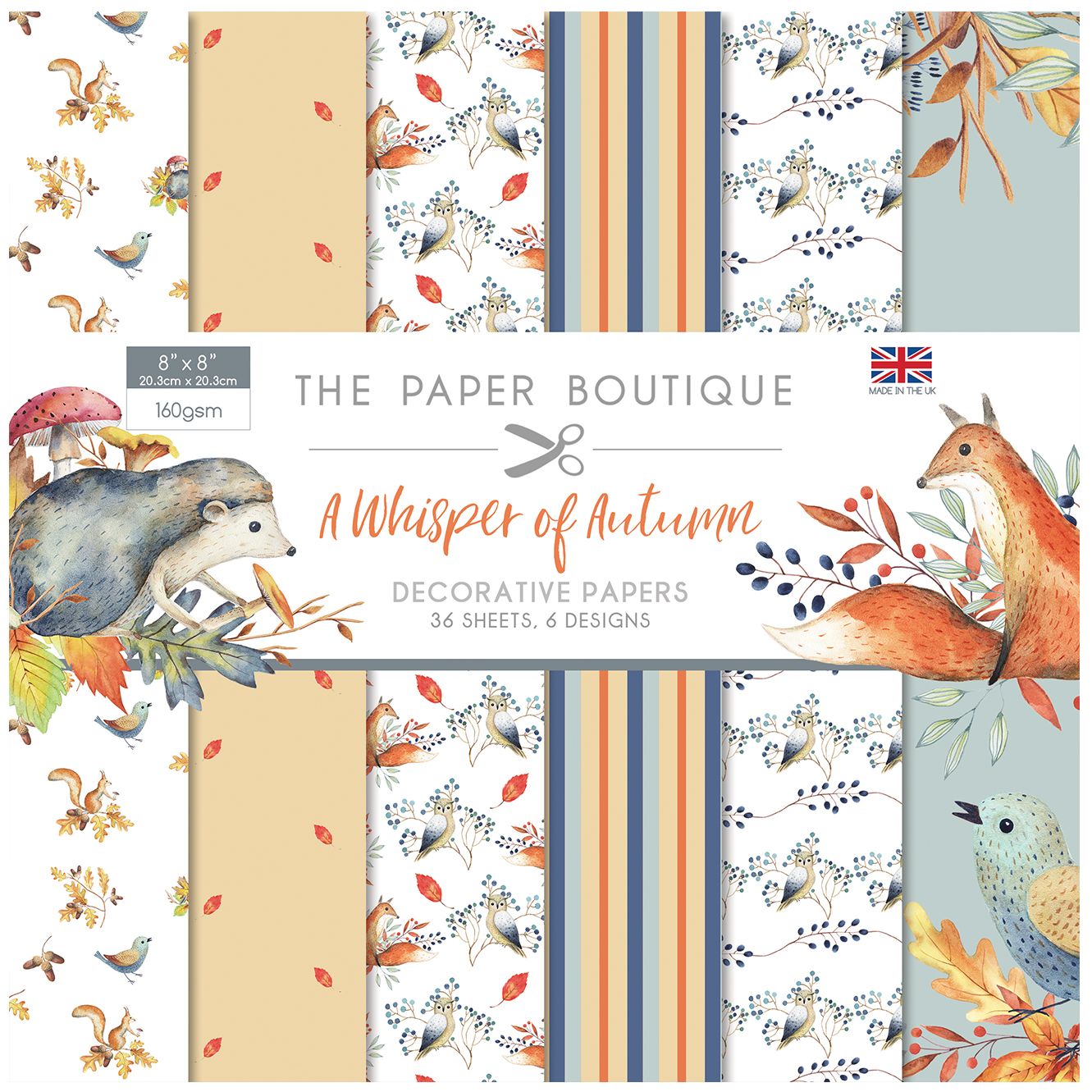 The Paper Boutique A Whisper of Autumn 8″ x 8″ Paper Pad