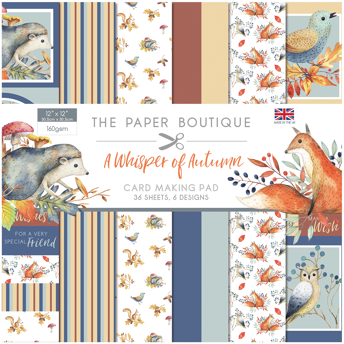 The Paper Boutique A Whisper of Autumn 12″ x 12″ Paper Pad