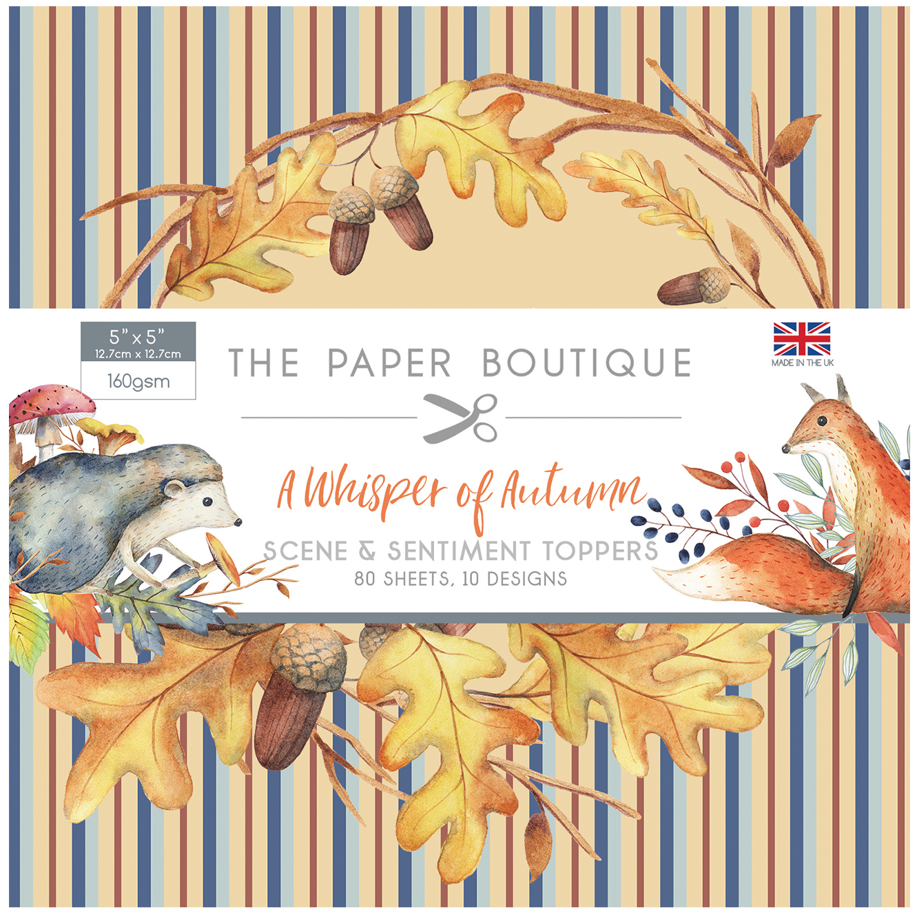 The Paper Boutique A Whisper of Autumn 5″ x 5″ Scene & Sentiment Pad