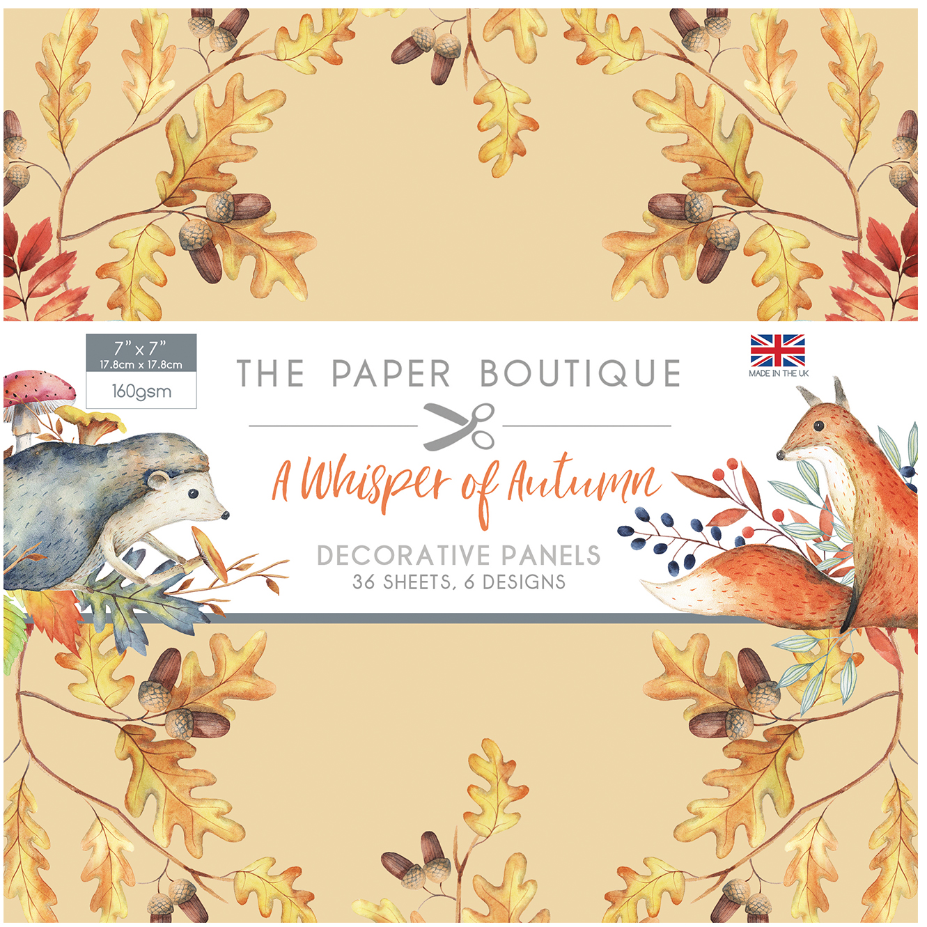 The Paper Boutique A Whisper of Autumn 7″ x 7″ Panel Pad