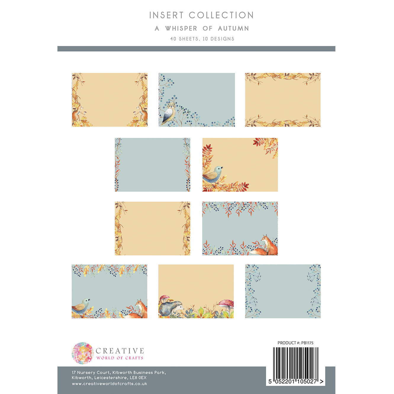 The Paper Boutique A Whisper of Autumn Insert Collection