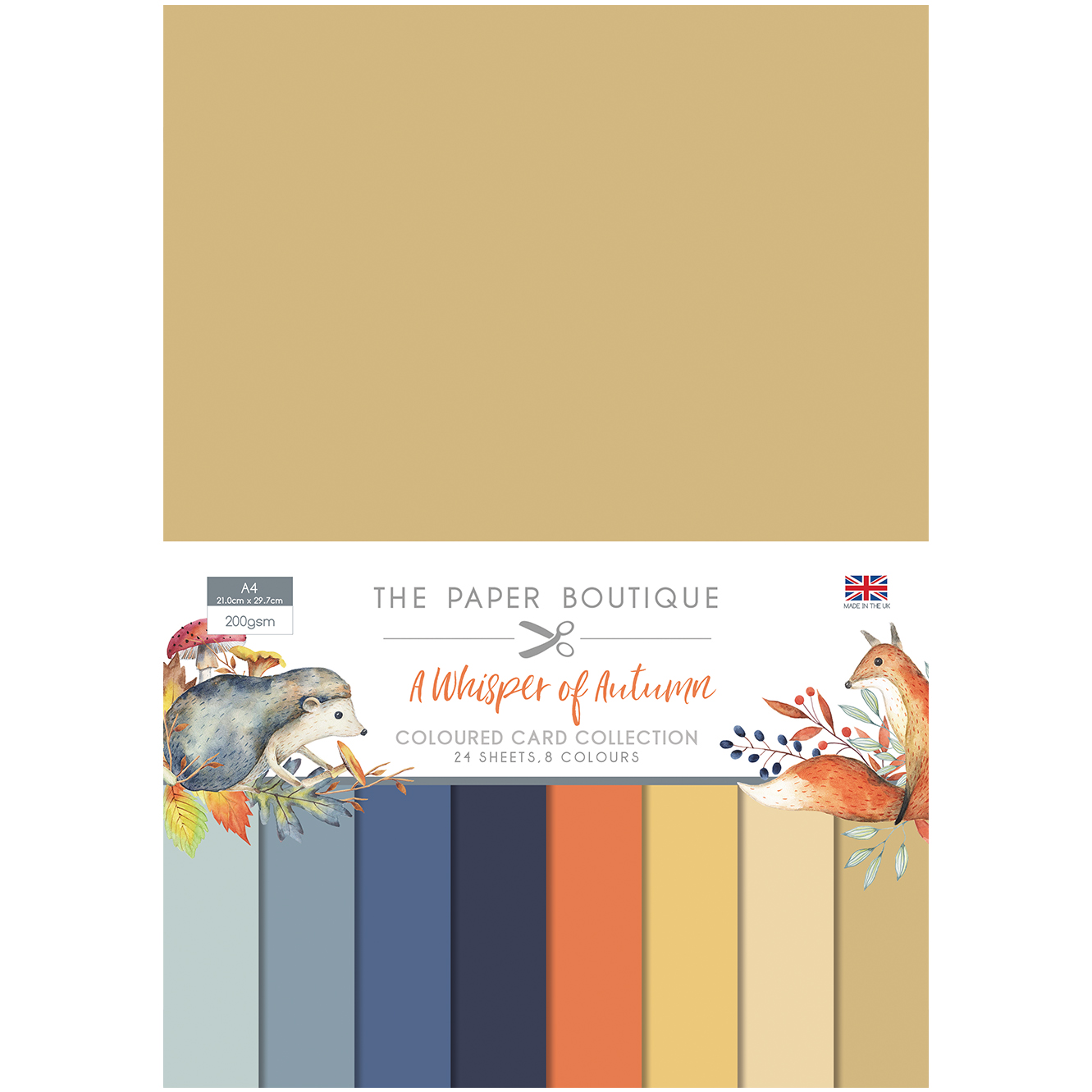 The Paper Boutique A Whisper of Autumn Coloured Card Collection