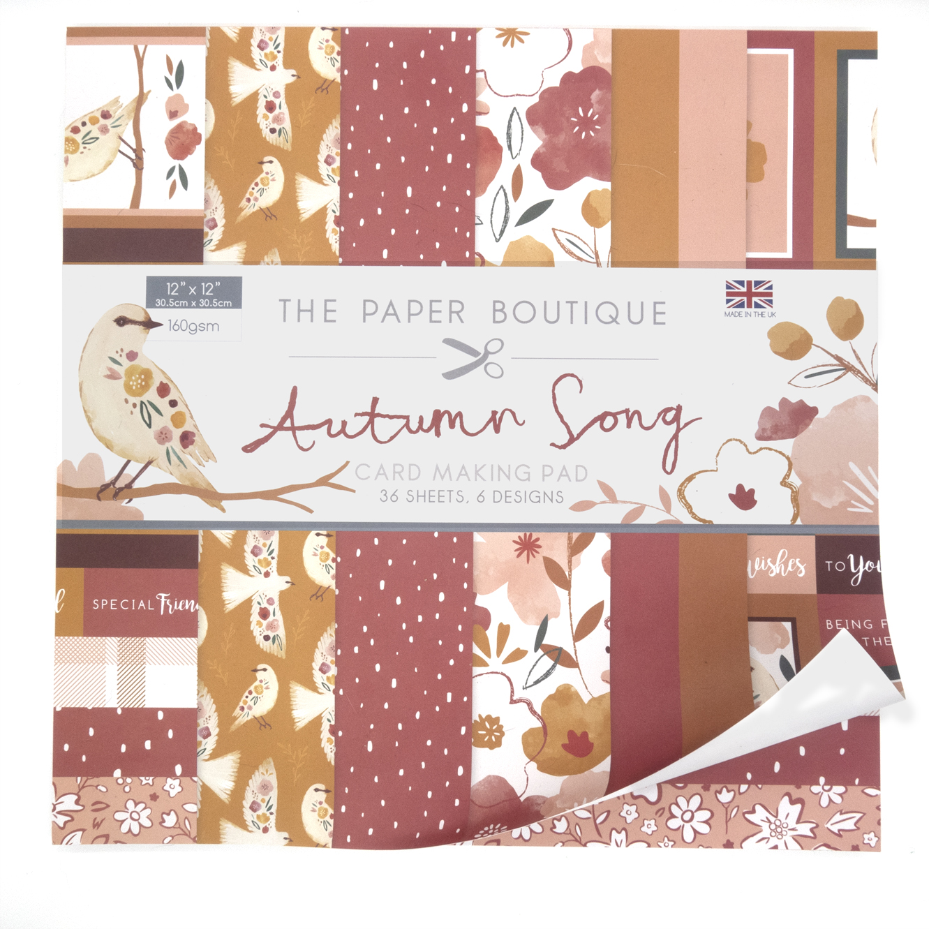 The Paper Boutique Autumn Song 12″ x 12″ Card Making Pad