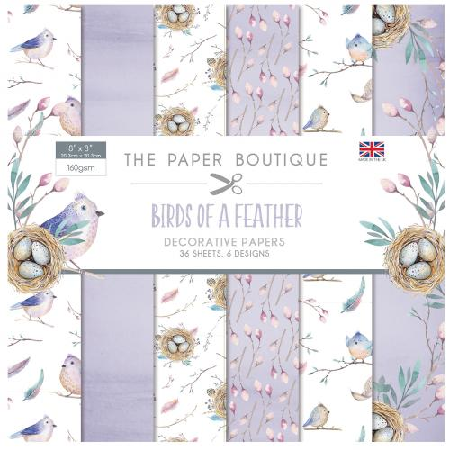 The Paper Boutique Birds of a Feather 8″ x 8″ Paper Pad