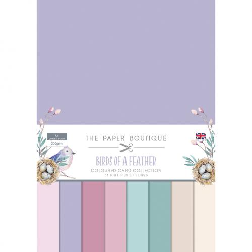 The Paper Boutique Birds of a Feather Coloured Card Collection