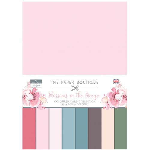 The Paper Boutique Blossoms in the Breeze Coloured Card Collection