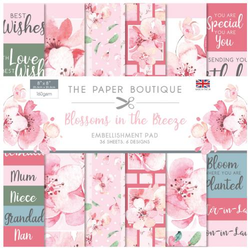 The Paper Boutique Blossoms In The Breeze 8″ x 8″ Embellishment Pad