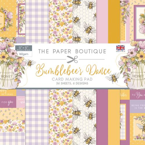 The Paper Boutique Bumblebee's Dance 12″ x 12″ Card Making Pad