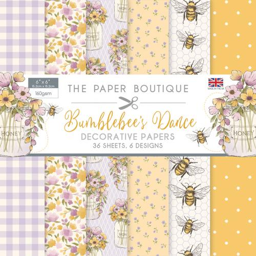 The Paper Boutique Bumblebee's Dance 6″ x 6″ Paper Pad