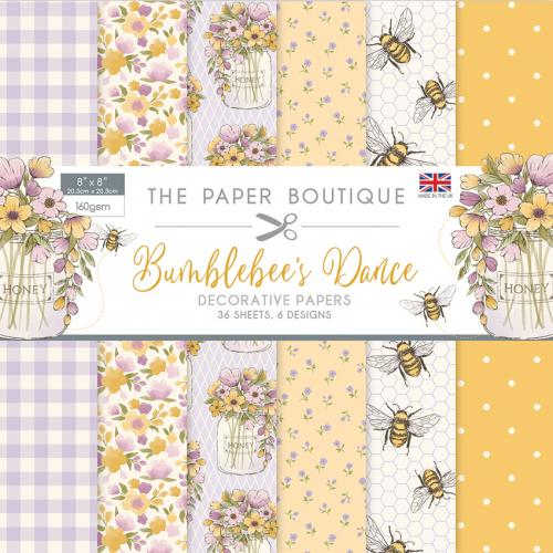 The Paper Boutique Bumblebee's Dance 8″ x 8″ Paper Pad