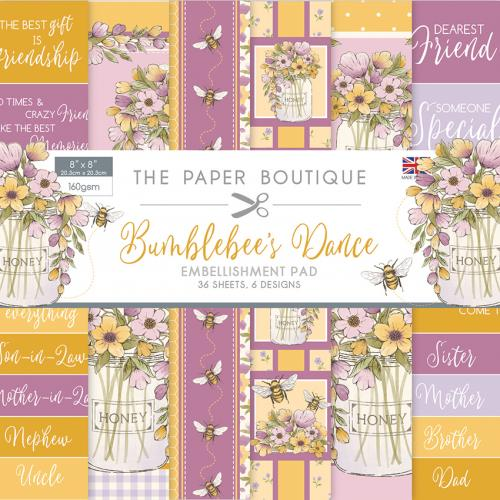 The Paper Boutique Bumblebee's Dance Embellishment Pad