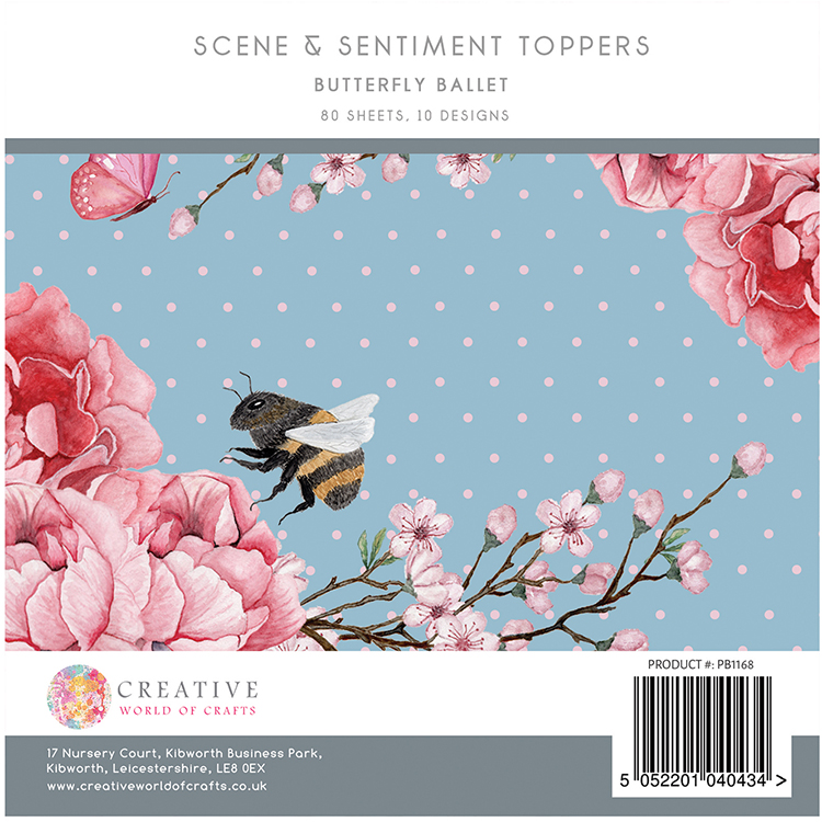 The Paper Boutique Butterfly Ballet 5″ x 5″ Scene & Sentiment Pad